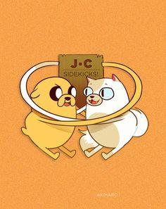 Gender Bender Adventure Time Characters by Aki - Jake/Cake