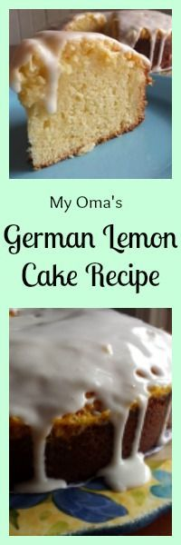 My Oma's German Lemon Cake Recipe tastes best when you make it a day ahead of when you plan to eat it... so the lemon flavor can absorb..