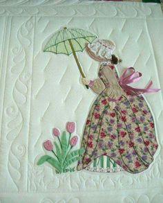 (Bonnet Girls Patterns of the Past Pattern Book Applique by Helen R Scott). Applique Quilt Patterns, Applique Designs, Embroidery Patterns, Girls Quilts, Baby Quilts, Quilting Projects, Quilting Designs, Sue Sunbonnet, Doll Quilt