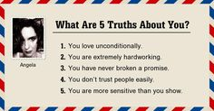 What Are 5 Truths About You?