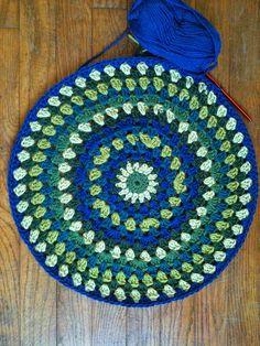 Ravelry: Granny Circle Cushion pattern by Karen Janine