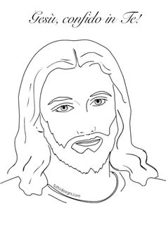 Christ With A Crown Of Thorns Coloring Page