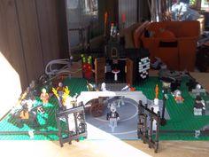 lego cemetery and witch church Halloween scene Lego Halloween, Halloween Scene, Lego Display, Lego Storage, Legos, Cemetery, Witch, Lego, Wicked