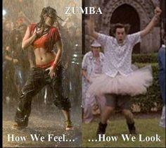 hahaha!  Which way do you look when you Zumba @Lisa Harrison?