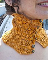 The Incandescent Cowl, pattern by Heidi Kunkel. From the book Needles and Artifice by The Ladies of Mischief. www.cooperativepress.com.