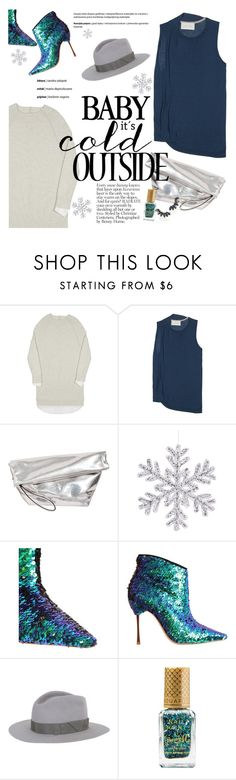 """Rock This Look: Blue and Silver"" by brochuwalker ❤ liked on Polyvore featuring Brochu Walker, Marni, Sophia Webster, Gladys Tamez Millinery, Barry M and ABS by Allen Schwartz"