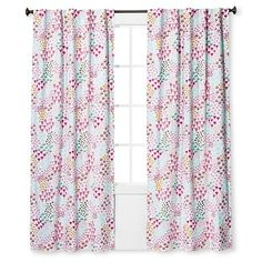 "Floral Print Twill Light Blocking Curtain Panel (84""x 42"") - Pillowfort™ : Target"