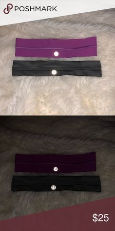 two lululemon headbands both have never been worn perfect condition lululemon athletica Accessories Hair Accessories