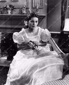 Joan Fontaine and her slipper photo from The Constant Nymph 1227-12