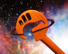 Hair Stick  Hitchhikers Guide to the Galaxy Logo by AKCWoodworking