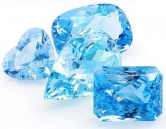 """multicolourgems:  Aquamarine is one of our most popular gemstones and the birthstone for March. Loved and admired for its gentle blue shades, it was believed that the mermaids received aquamarine as a gift from the King of the Sea - Neptune. This story and the pale blue color, earned it the name Aquamarine, from the Latin """" aqua marina"""", meaning """"water of the sea""""."""