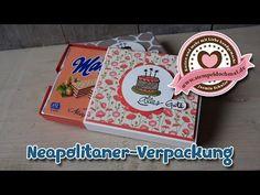 Tutorial: Schiebeverpackung für Neapolitaner-Waffeln, mit Stampin' Up! - YouTube
