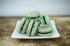 Peppermint and darkchocolatemake the perfect rich filling formacarons. Mint Chocolate Ganache Filling 4...