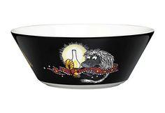 By Arabia - Mumi forfader skaal Moomin Mugs, Tove Jansson, Black Bowl, Scandinavian Living, Nordic Design, My Precious, Ceramic Bowls, Online Shopping Stores, Simple Designs
