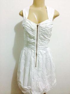Vestido Branco Espaço Fashion - QuaseNovo