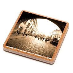 Cobblestone Street - Prague - Stone Drink Coaster