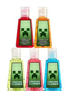 Minecraft Hand Sanitizer Party Favor Labels- Instant Download