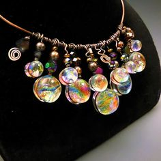 Holly Sokol, Fused Glass Jewelry, Dichroic Glass, Designer Jewelry ...