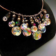 Holly Sokol, Fused Glass Jewelry, Dichroic Glass, Designer Jewelry ...