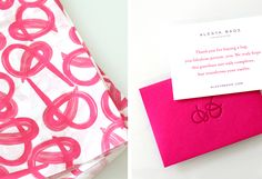 Alesya Bags packaging materials and thank you card