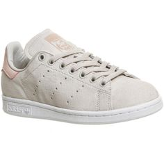 Adidas Stan Smith (€89) ❤ liked on Polyvore featuring shoes, pearl grey pink, trainers, unisex sports, gray shoes, rubber sole shoes, grey tennis shoes, pearl shoes and grey shoes