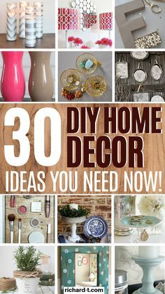 30 AMAZING DIY home decor dollar store ideas which are absolutely GENIUS! Check these DIY home ideas out, and make sure you use a few! diy garden decor dollar stores 30 DIY Home Decor Dollar Store Ideas You Wish You Knew Diy Home Decor Rustic, Upcycled Home Decor, Diy Garden Decor, Farmhouse Decor, Decor Diy, Diy Decoration, Decor Crafts, Dollar Store Hacks, Dollar Stores