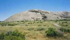 This is Independence Rock in Wyoming. We stopped here today to rest.
