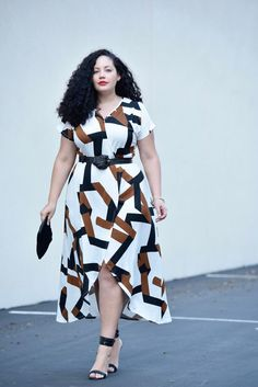 Girl With Curves featuring a high-low dress from the Venus plus-size collection.