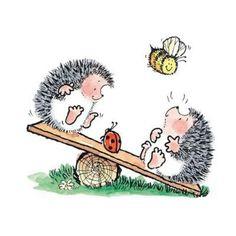 Penny Black's hedgehogs & bee