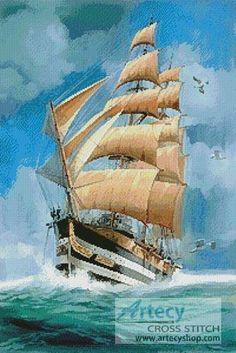 Beautiful Cross Stitch Patterns | cross stitch pattern Tall Ship