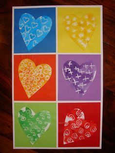 Fete des mères - carte cœurs Plus Kindergarten Art, Preschool Art, Diy And Crafts, Arts And Crafts, Paper Crafts, Diy For Kids, Crafts For Kids, Valentine Day Crafts, Printable Valentine