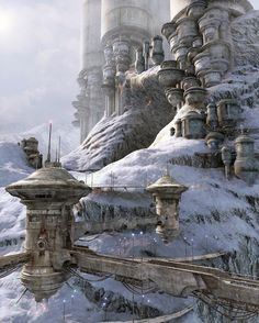 Concept Art: Alpine Village - 3D, Concept art, Sci-fiCoolvibe – Digital Art