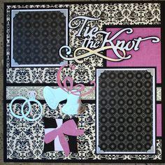 cricut wedding scrapbook layouts | Wedding Album Series - Tie the Knot 12x12 Double Scrapbook Layout ...