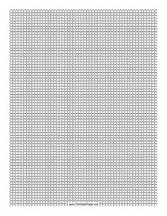 This Seed Bead Herringbone Pattern beadwork layout graph paper features seed beads in a single-column herringbone pattern. Free to download and print