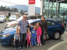 Congratulations Deann, Joseph, and entire crew! Looks like you're all very excited about the pretty new car.