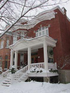 maison outremont Montréal neige Noël