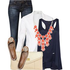 Navy white coral