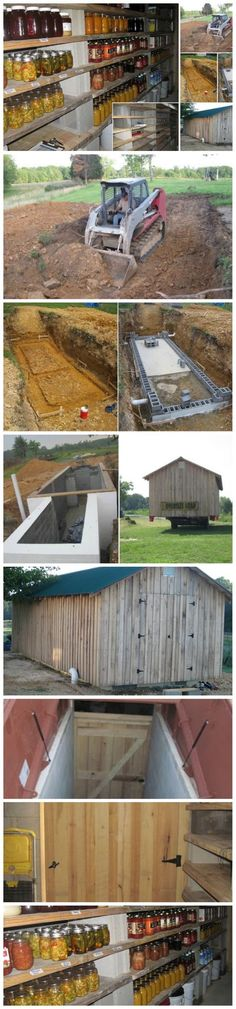 How To Build A Root Cellar – Tutorial. I wish I could do this, but I'd have to dynamite through the rock...