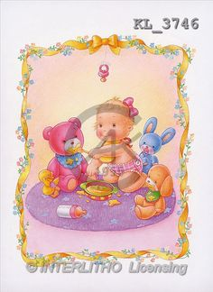Interlitho, Lorella, BABIES, paintings, toys, yell.ribbo(KL3746,#B#) bébé, illustrations, pinturas