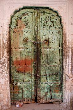 Old forbidden Door in Jaipur, India