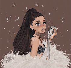 Find images and videos about drawing and ariana grande on We Heart It - the app to get lost in what you love. Ariana Grande Fotos, Ariana Grande Linda, Ariana Grande Anime, Ariana Grande Drawings, Ariana Grande Pictures, Ariana Grande Background, Ariana Grande Wallpaper, Cute Girl Drawing, Cute Drawings