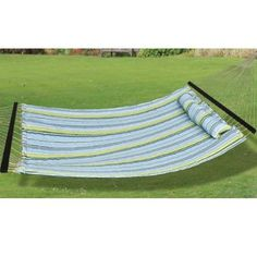 Amazon.com: Best Choice Products® Hammock Quilted Fabric With Pillow Double Size Spreader Bar Heavy Duty Brand New: Patio, Lawn & Garden