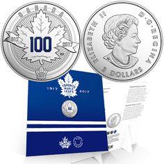 1917-2017 Toronto Maple Leafs 100th Anniversary $3 Pure Silver Proof Coin Canada Hockey Stuff, Hockey Teams, Ice Hockey, Maple Leafs Hockey, Canadian Coins, Toronto Maple Leafs, Dollar Coin, Silver Coins, Nhl