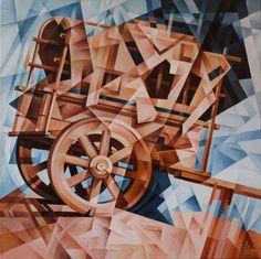 Bullock-Cart. Cubo-futurism. Krotkov Vassily. 2014