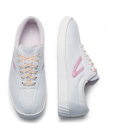 Take a look at this White & Sea Pink Nylite Sneaker - Junior by Tretorn on #zulily today!