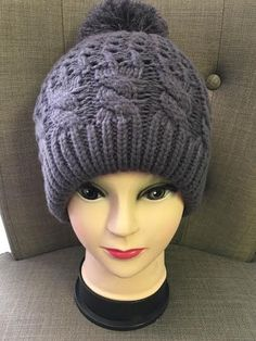 Beautiful grey quilted beanie