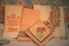 vintage napkins and things