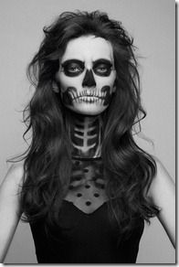 Skulls are a Halloween staple that make for a classic costume. But instead of taking the easy route and wearing a mask, learn how to create a painted-on skull face. This makeup look will GLAM your skeleton to the next … Continue reading → Dead Makeup, Skull Makeup, Makeup Art, Hair Makeup, Makeup Ideas, Wolf Makeup, Makeup Designs, 1920s Makeup, Makeup Inspiration