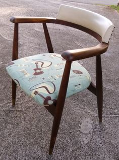MId Century Modern Post AToMiC Chair. Repaired A Loose Joint, Gently  Refinished The