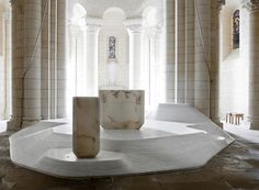 modern renovation for a Romanesque church.  not sure if i like it, but it's interesting.